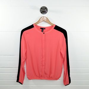 AQUA COLOR BLOCK BLOUSE #101-11
